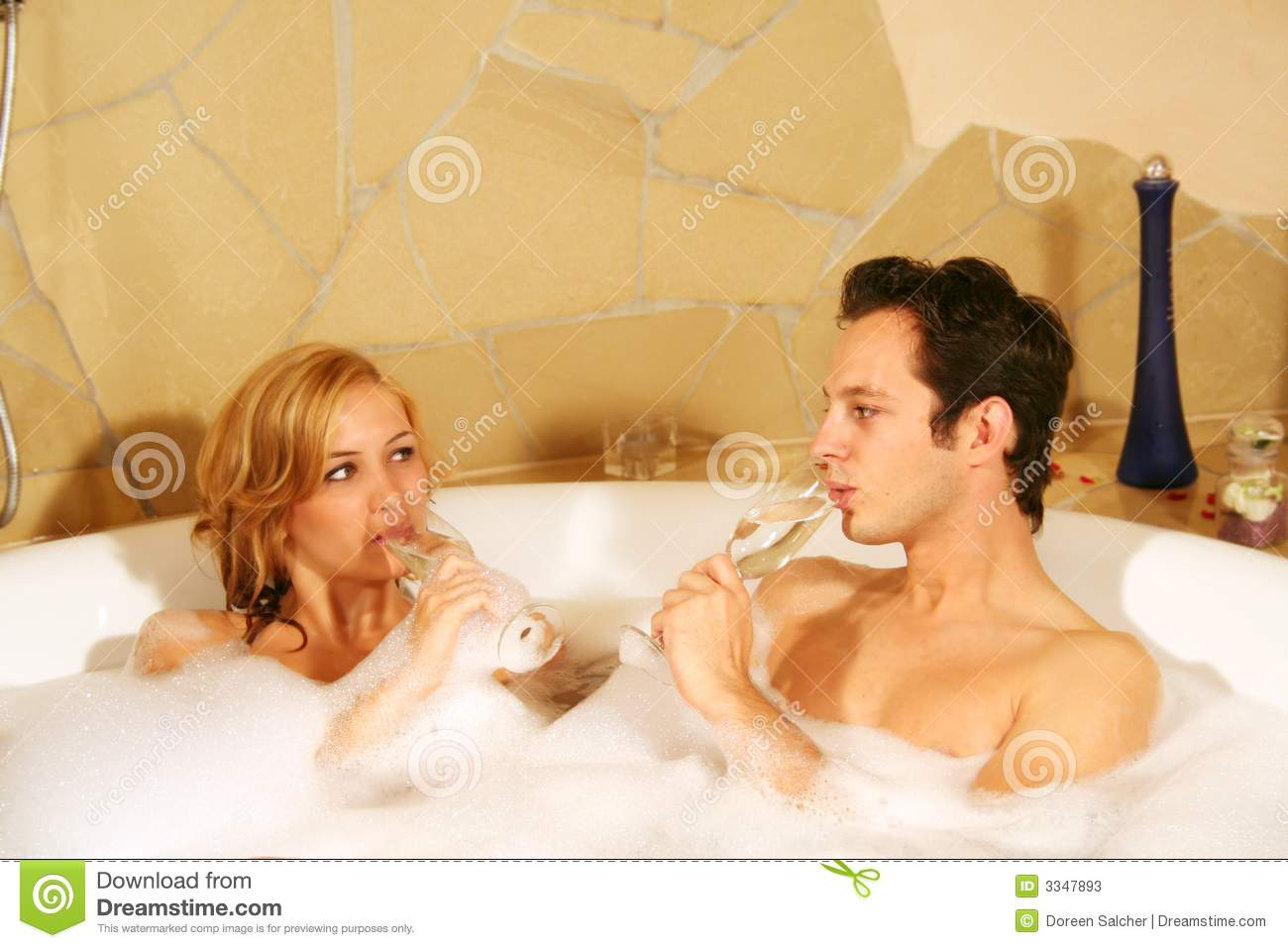 Lovely couple in bath stock image image of alone beauty for Bathroom ideas for couples