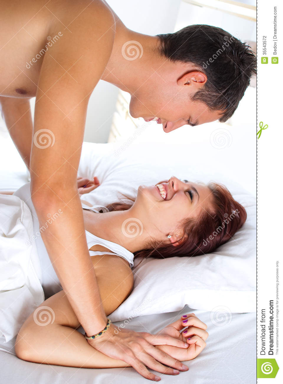 Lovely Couple In Bed Lying In Bedroom Lovely Couple In Bed Stock Photography Image 35543572