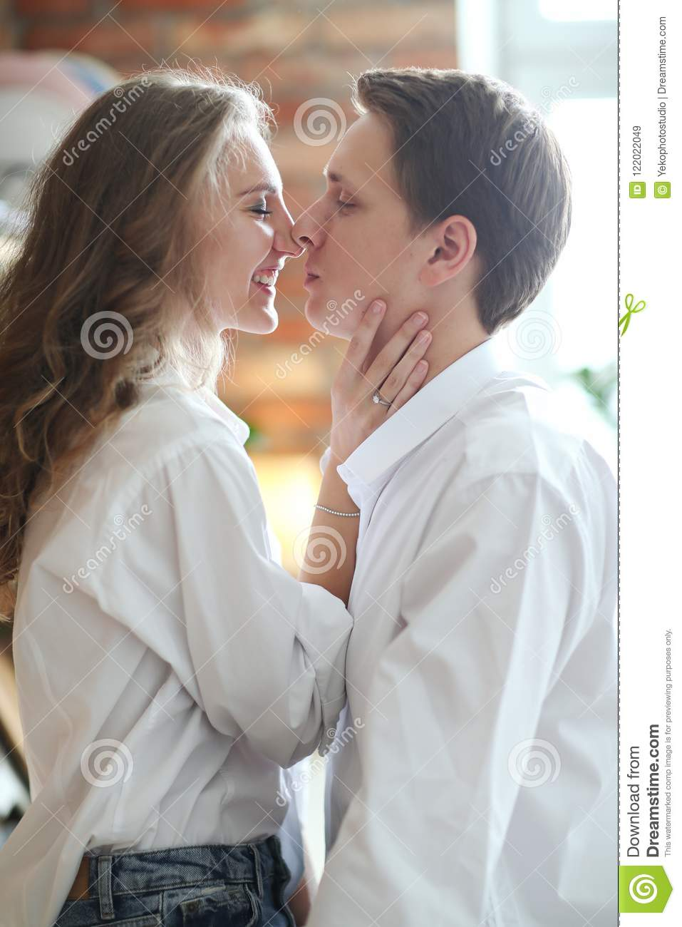 Lovely Couple At Home Stock Image Image Of Morning 122022049