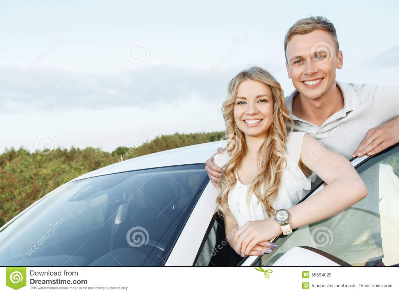 sweet couple dating standing