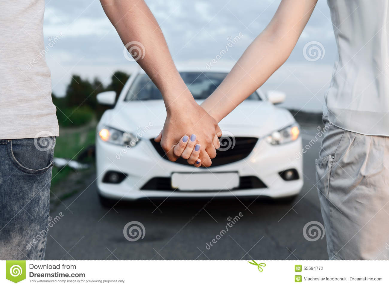 Lovely Couple Near The Car Stock Photo Image Of Sweet 55594772
