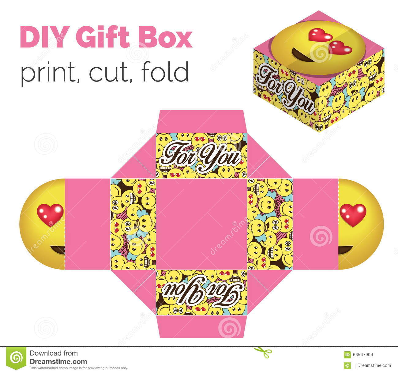 Lovely Do It Yourself Diy In Love Expression Gift Box For Sweets