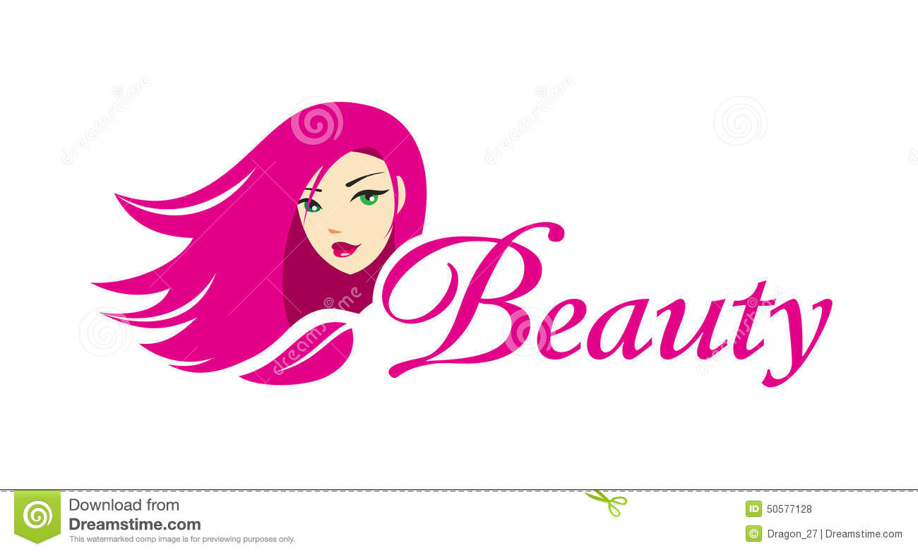 Lovely Girl Logo Template Stock Vector Illustration Of