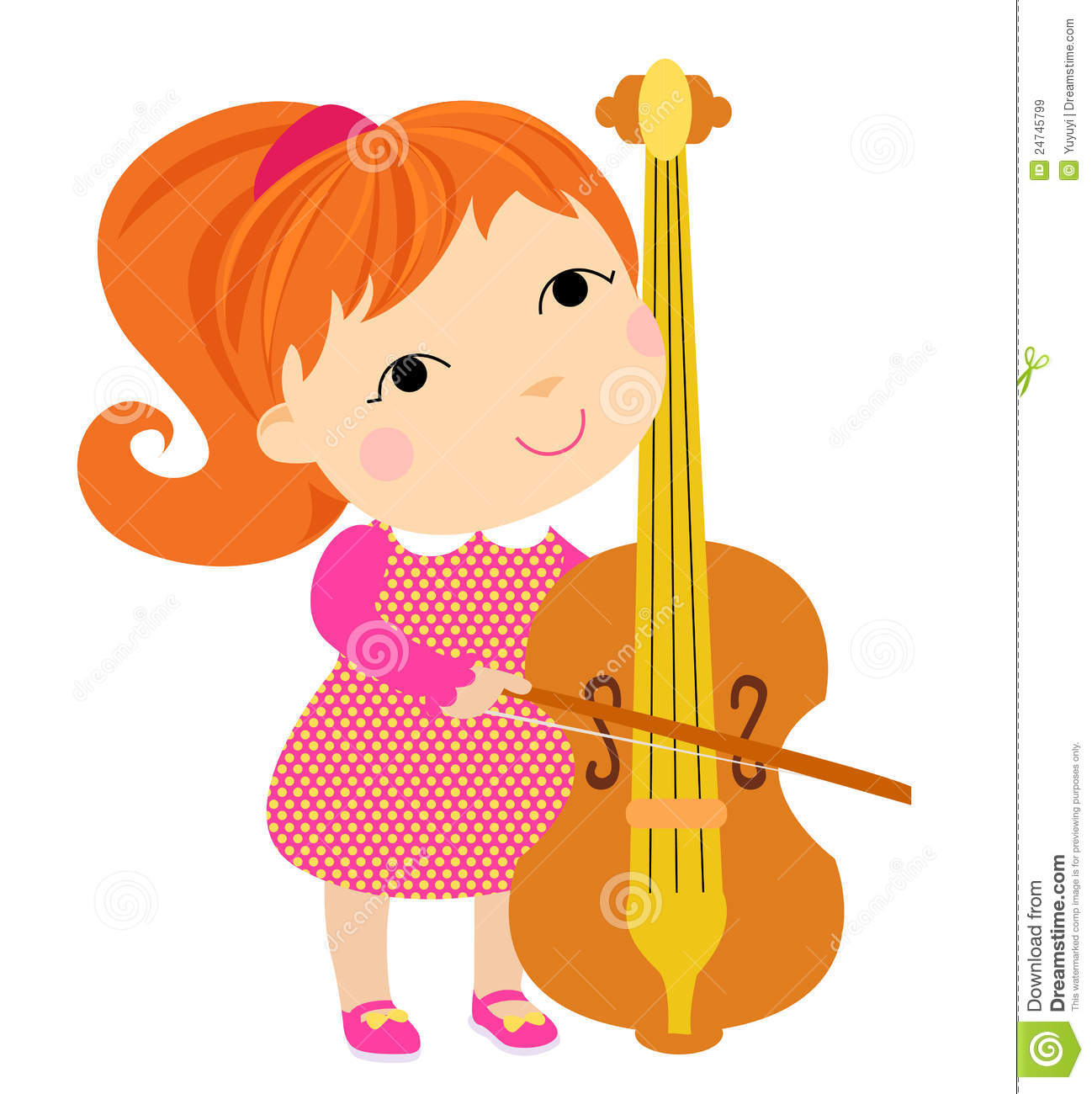 Cello cartoon cello player stock photography image 32561422 - Lovely Girl Playing Cello Royalty Free Stock Images