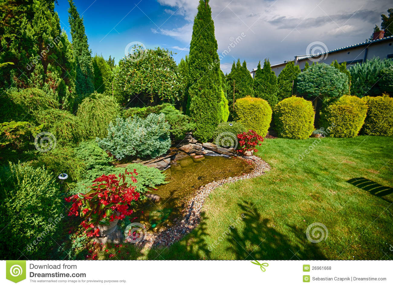 Lovely Green Garden Royalty Free Stock Photos Image 26961668