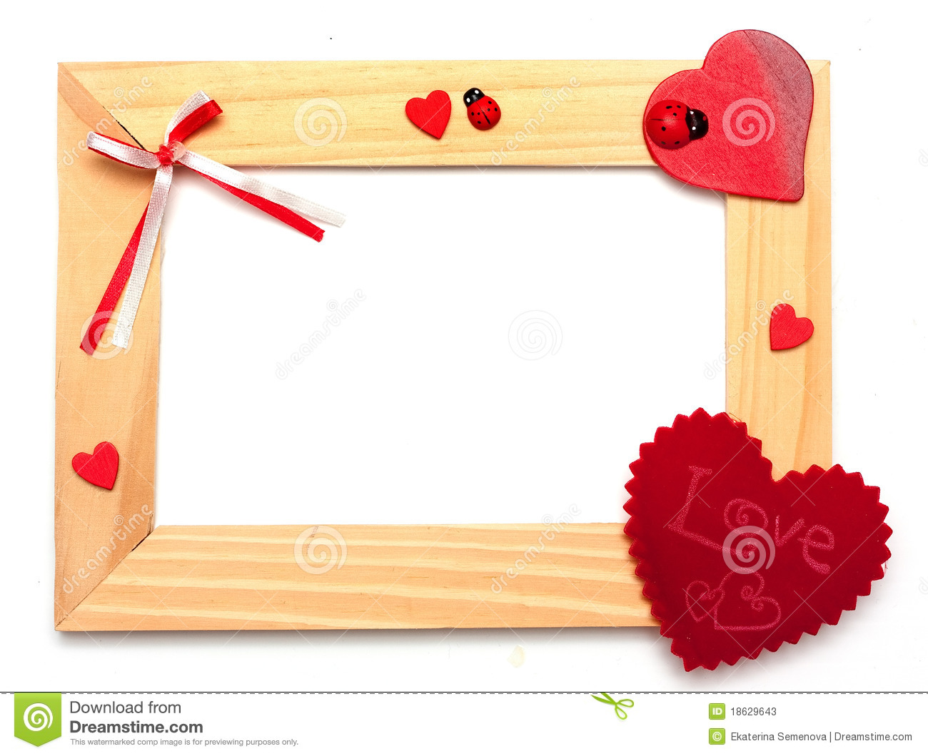 lovely heart frame for your design stock photos