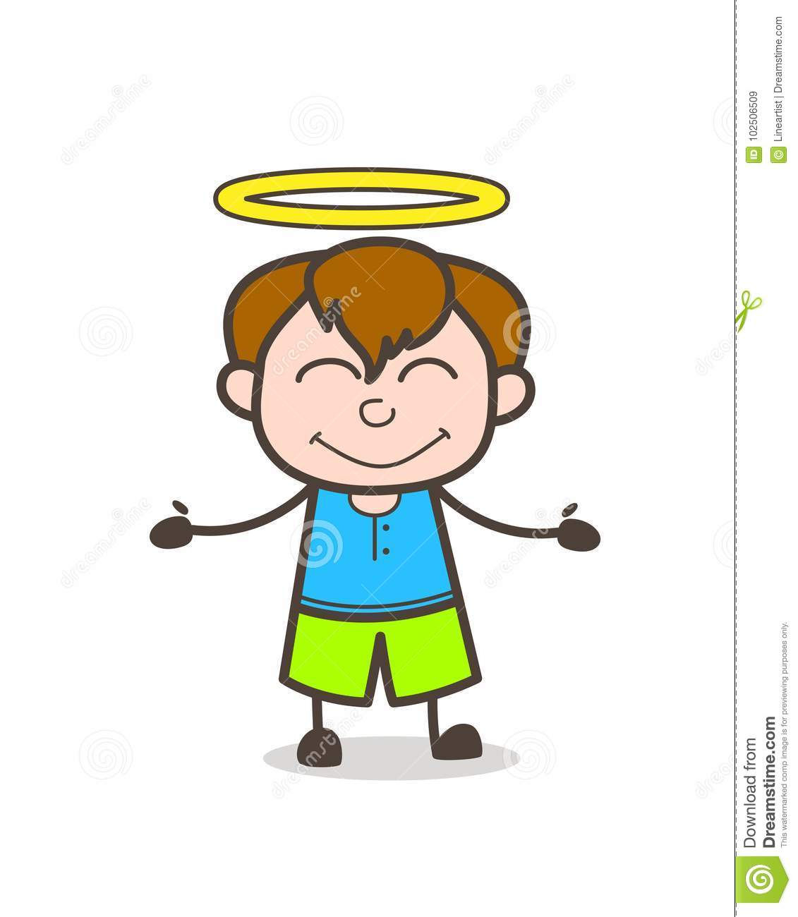 Image result for little angel with halo cartoon