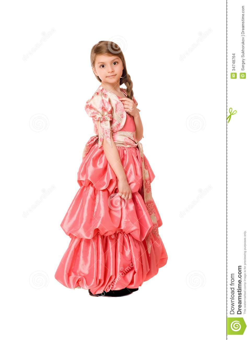 Lovely Little Girl In A Long Dress Stock Images - Image: 34748764