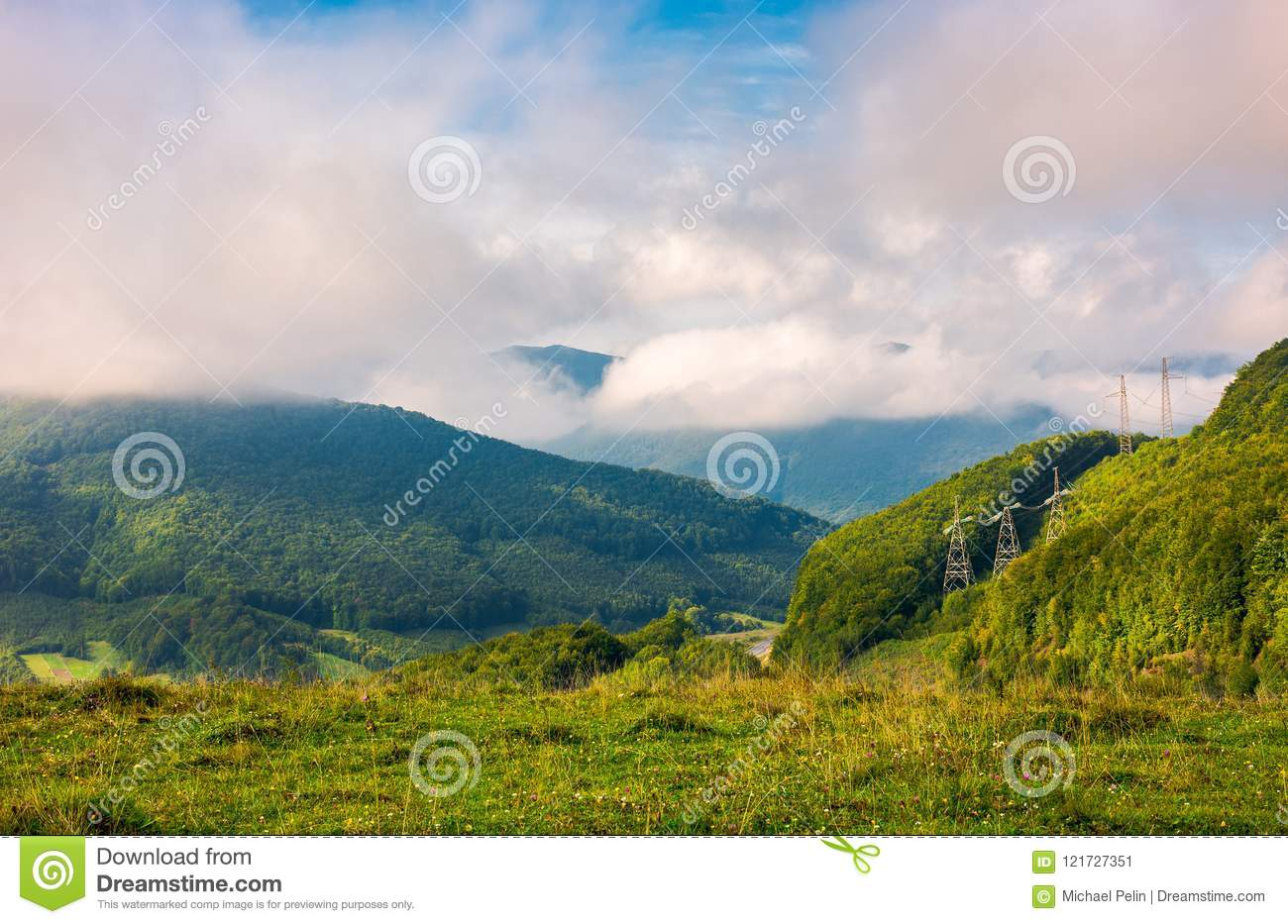 Lovely mountainous countryside in autumn