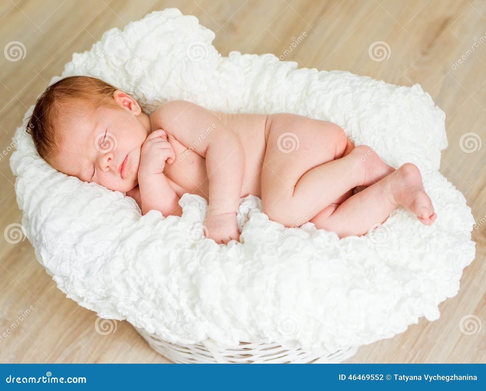 f16fa2ff4 Lovely newborn baby sleeps stock photo. Image of male - 46469552