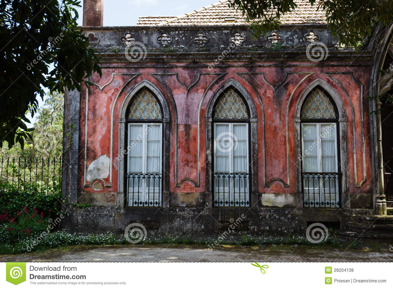 Lovely old building with red facade arched windows french doors lovely old building with red facade arched windows french doors rubansaba
