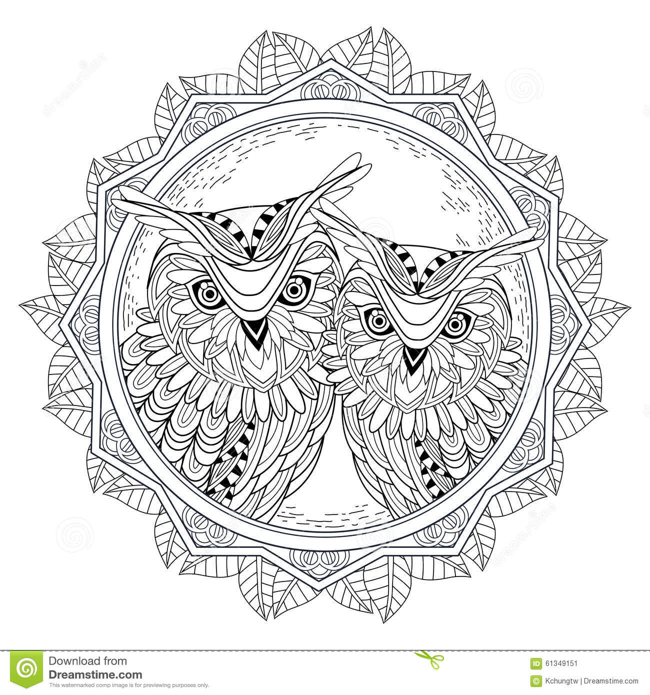 Lovely Owl Couple Stock Illustration Image Of Element