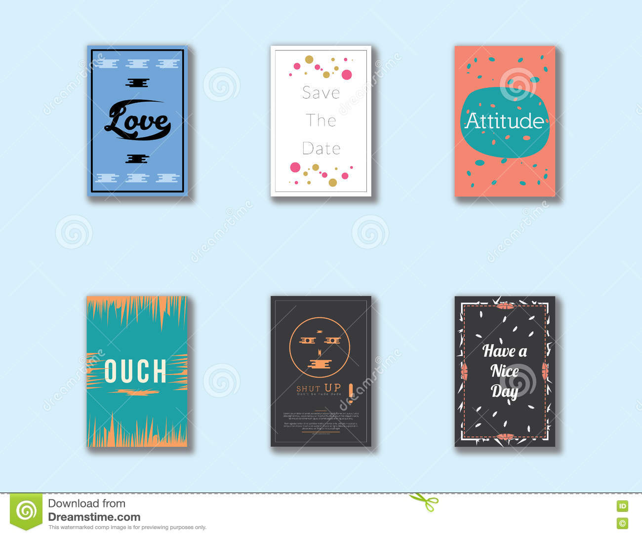 lovely simple unique postcard cover design layout stock vector