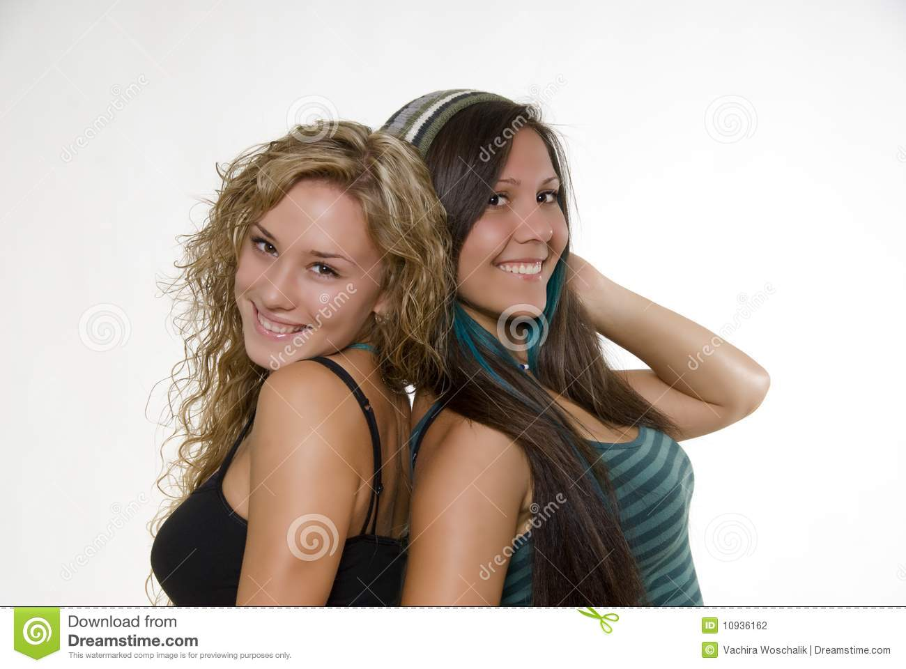 Download Lovely sisters stock photo. Image of curly, beautiful - 10936162