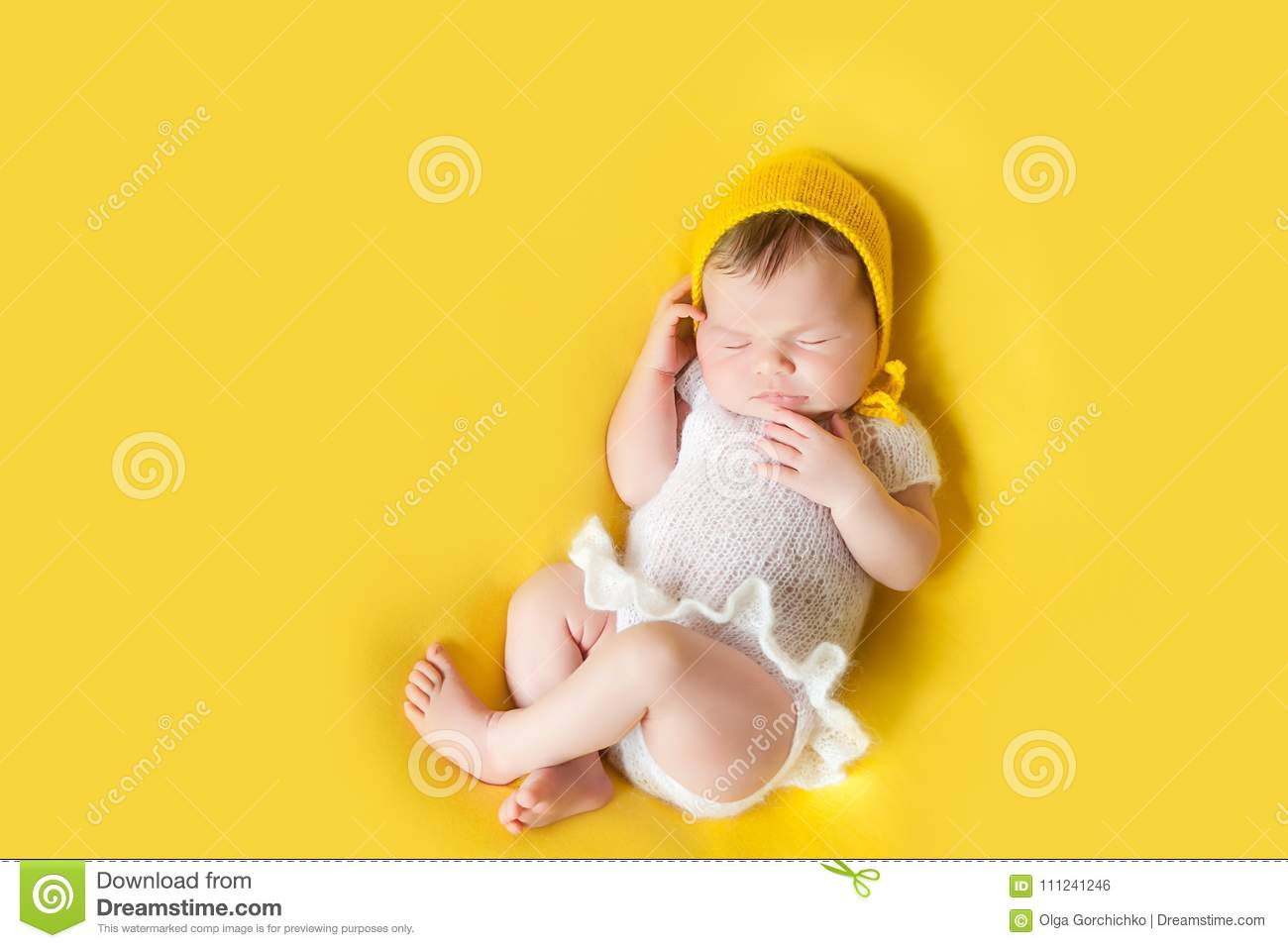 2a1b71eec717 Lovely Sleeping Newborn Baby Girl Stock Photo - Image of face ...