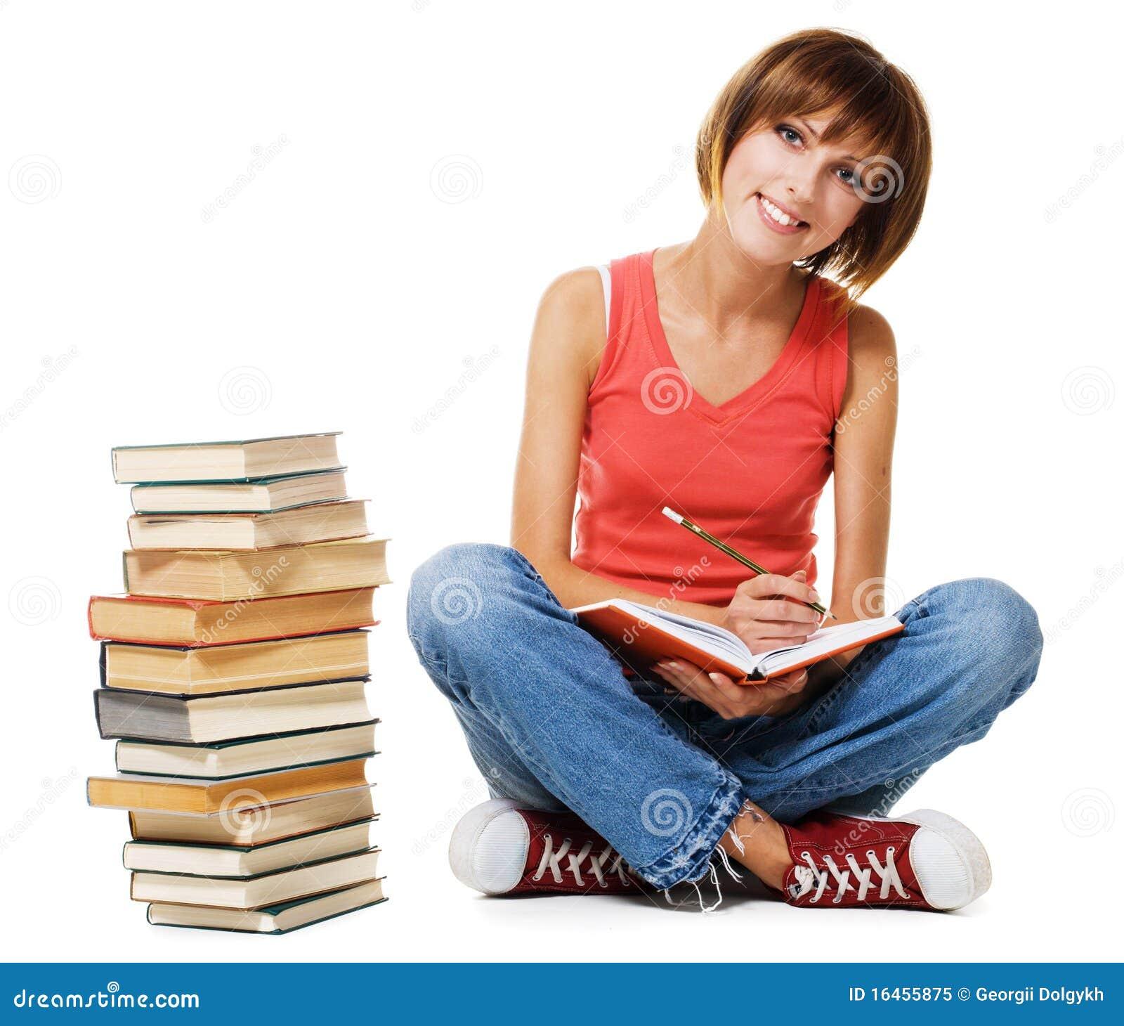 Lovely student girl