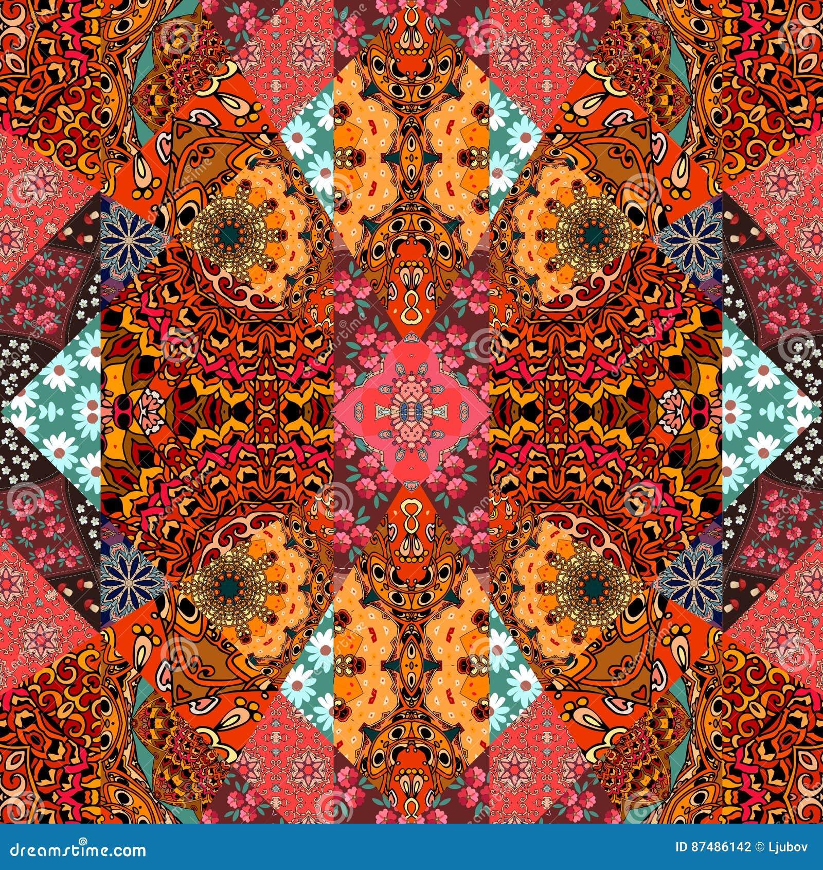 Arabic Patchwork Quilt Stock Photography Cartoondealer