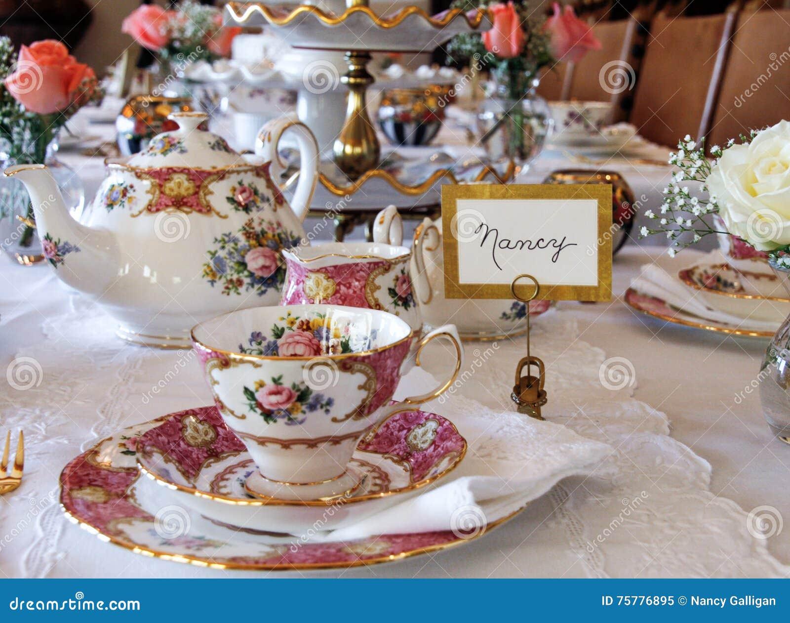 tea table settings tables - photo #47