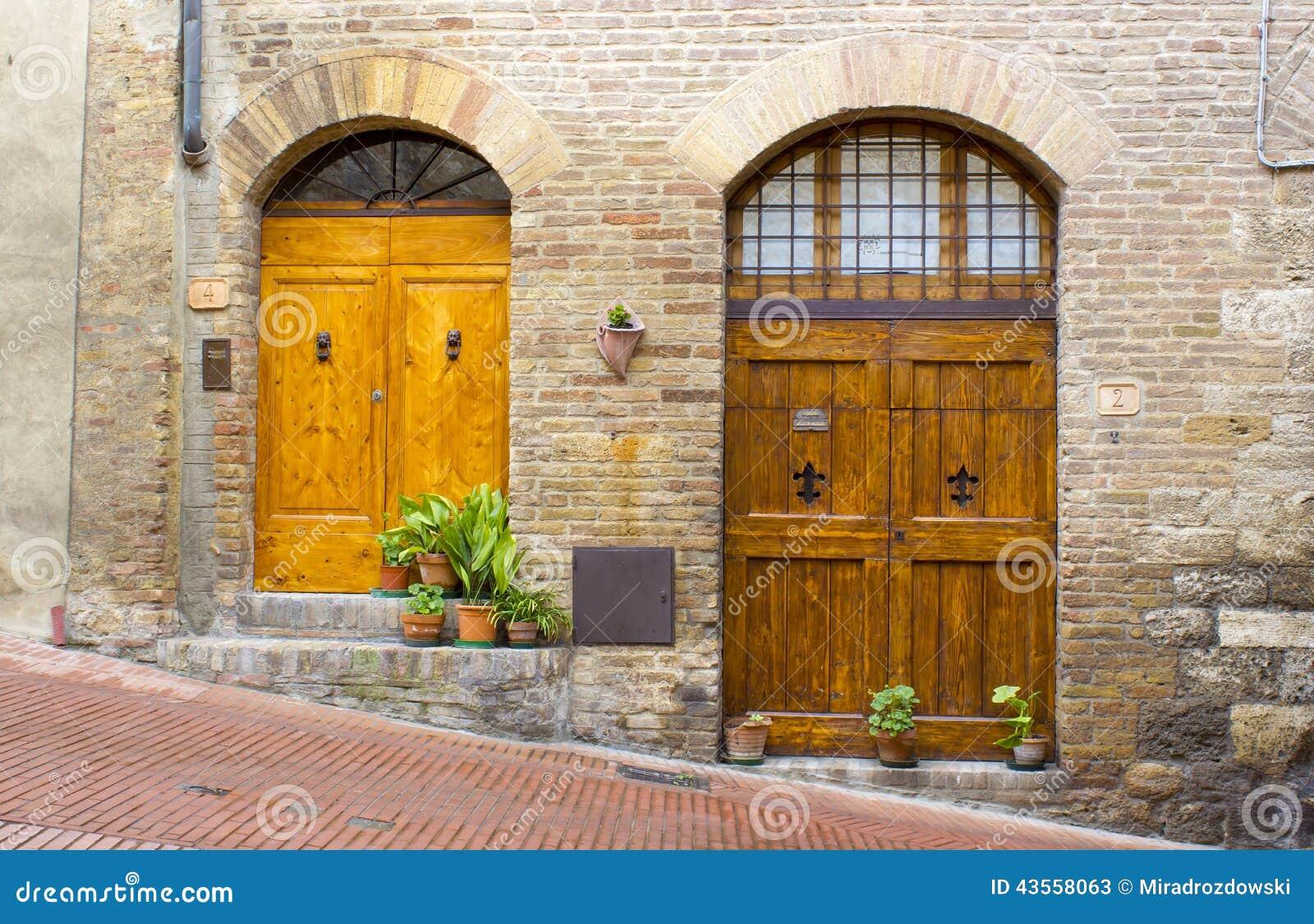 Lovely tuscan doors