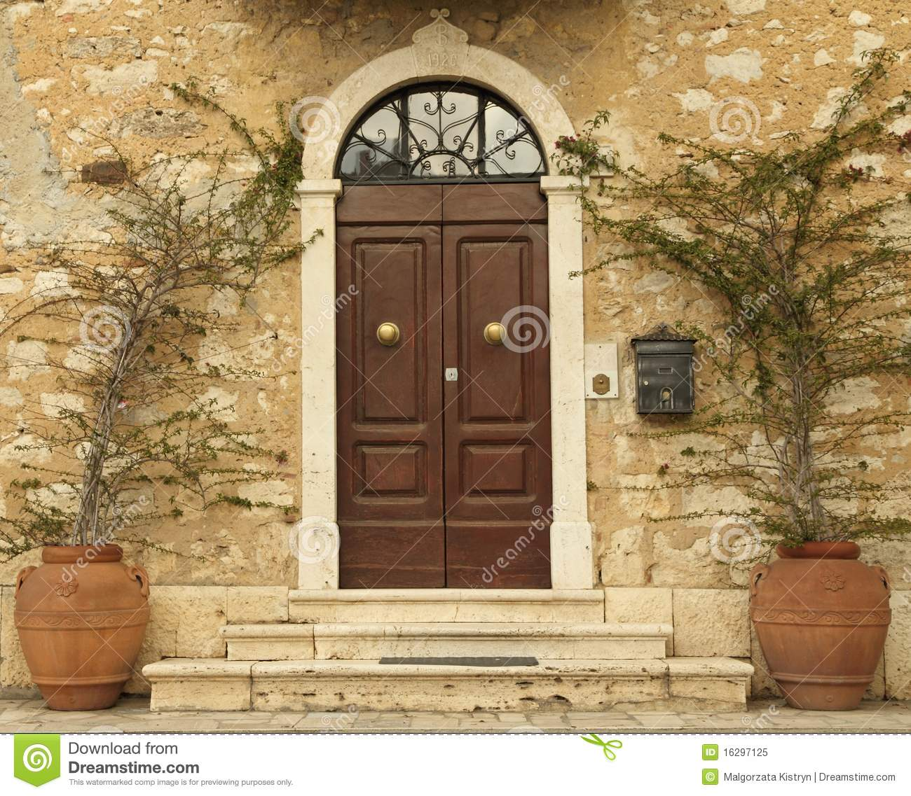 lovely tuscan front door italy royalty free stock photo