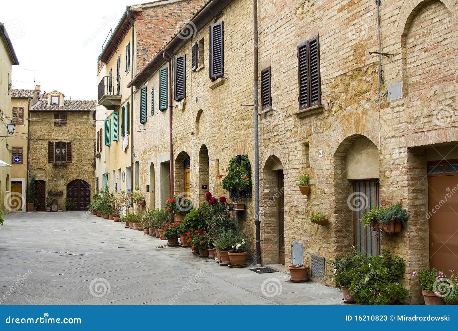 Lovely Tuscan Street Stock Photos