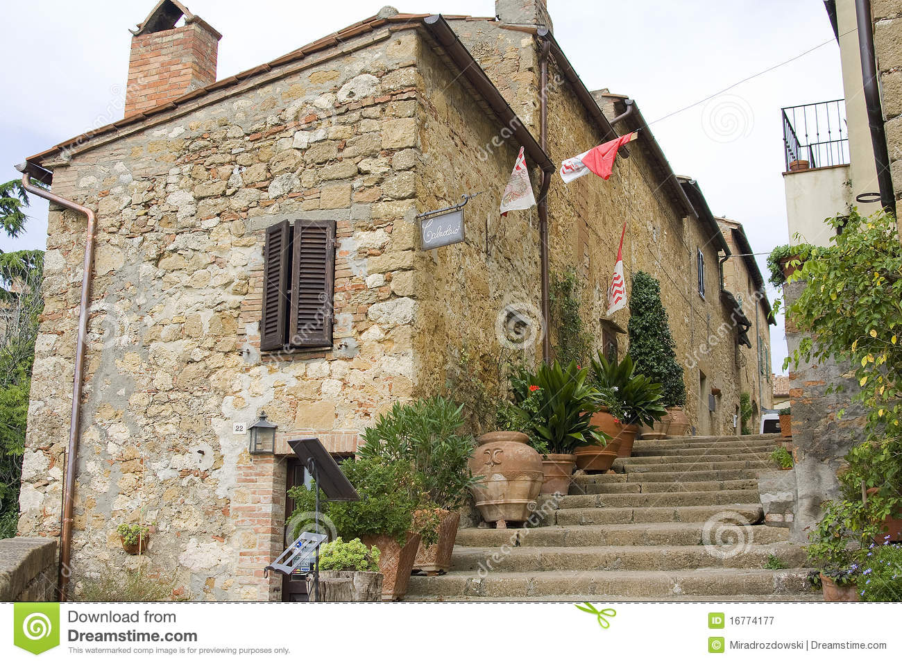 Lovely Tuscan Street Royalty Free Stock Photography