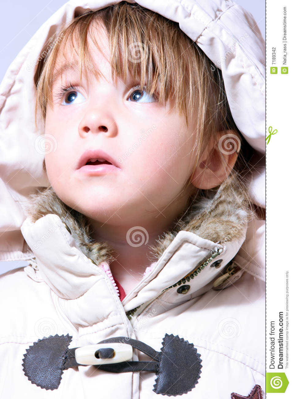 ce8e1a057c5 Lovely Winter-dressed Baby Girl Stock Photo - Image of dress ...