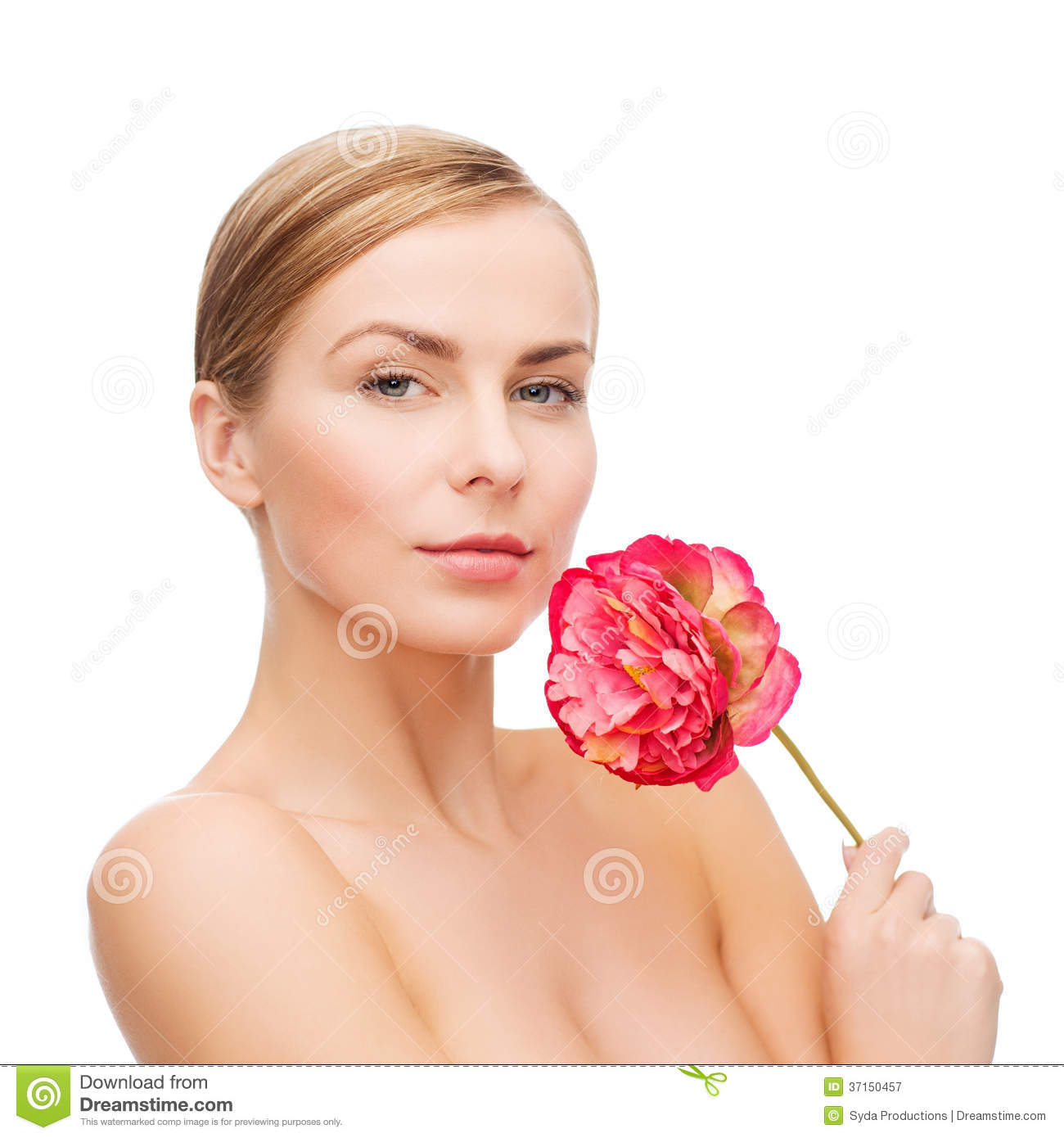 Lovely Woman With Pink Tinted 9