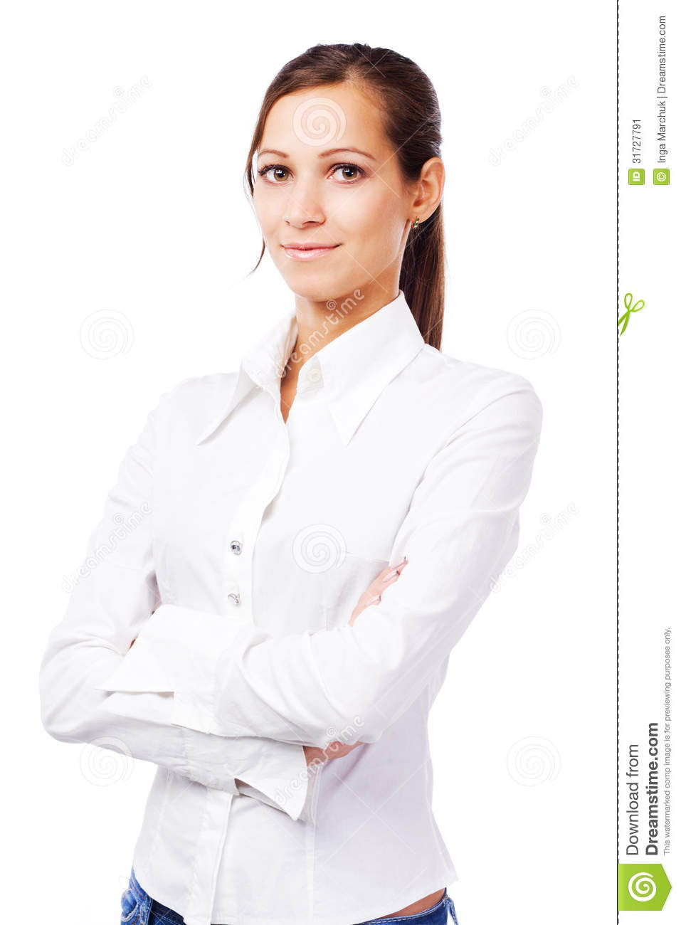 Lovely Woman In White Shirt Stock Image - Image: 31727791