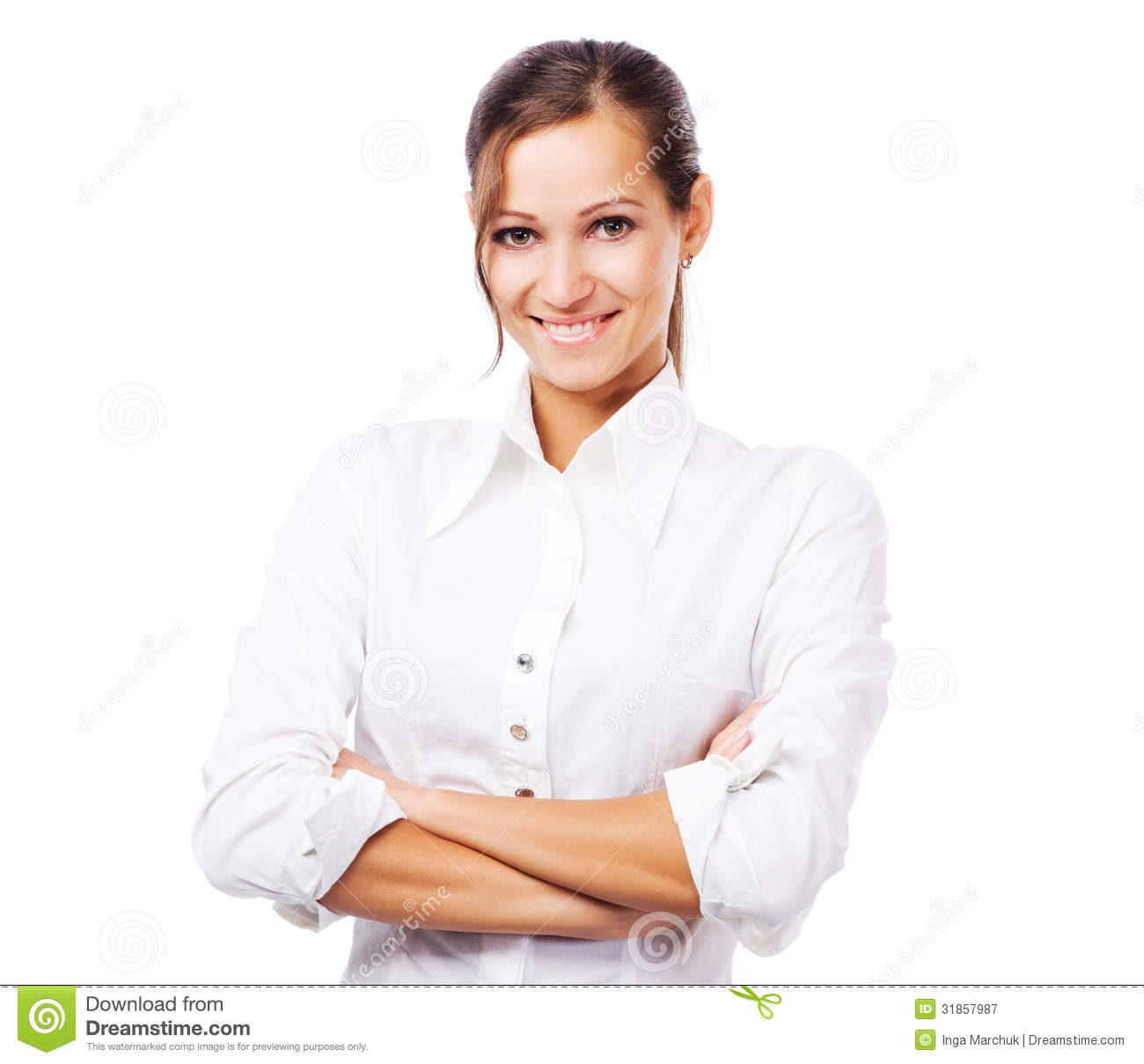 Lovely Woman In White Shirt Royalty Free Stock Photography - Image ...