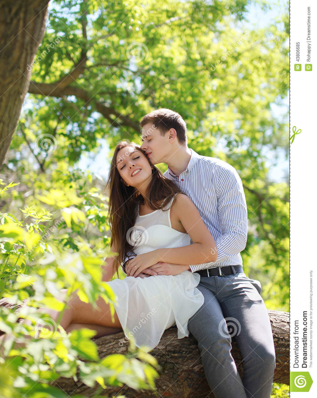 lovely young couple in summer stock image image of girl dating