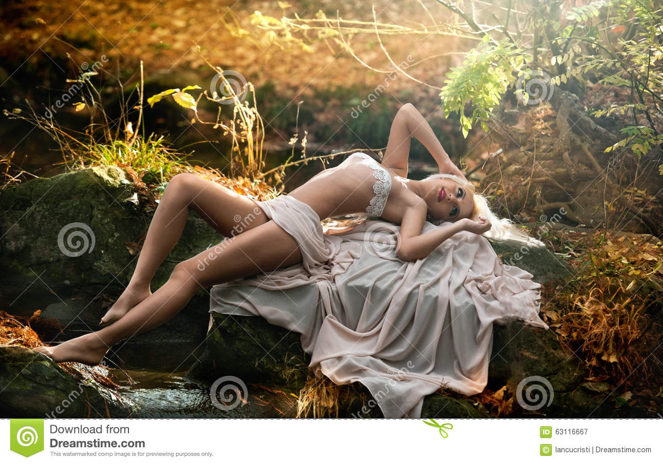 Sensual lady in woods confirm. agree