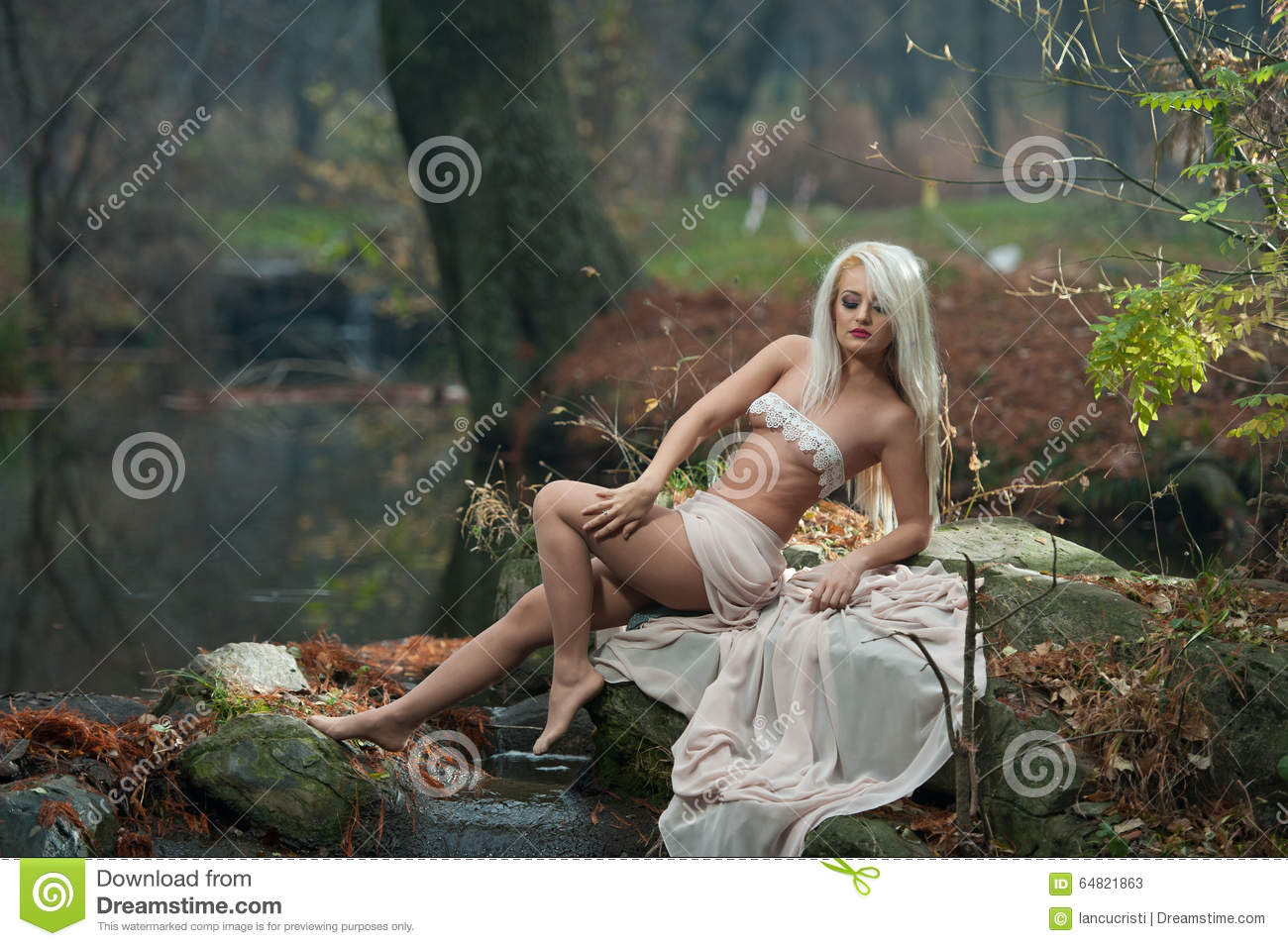 Are sensual lady in woods remarkable, rather