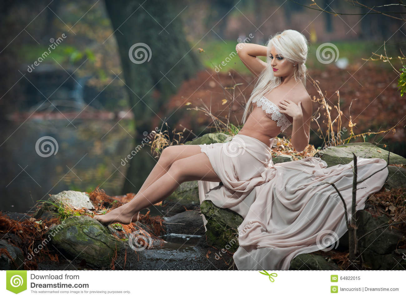 Are not sensual lady in woods