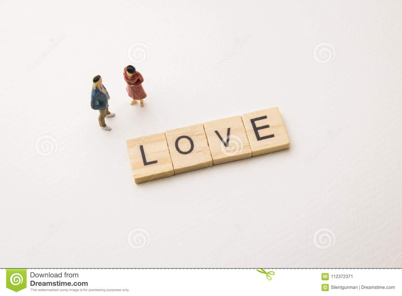 lover figures dating on love conceptual stock image image of