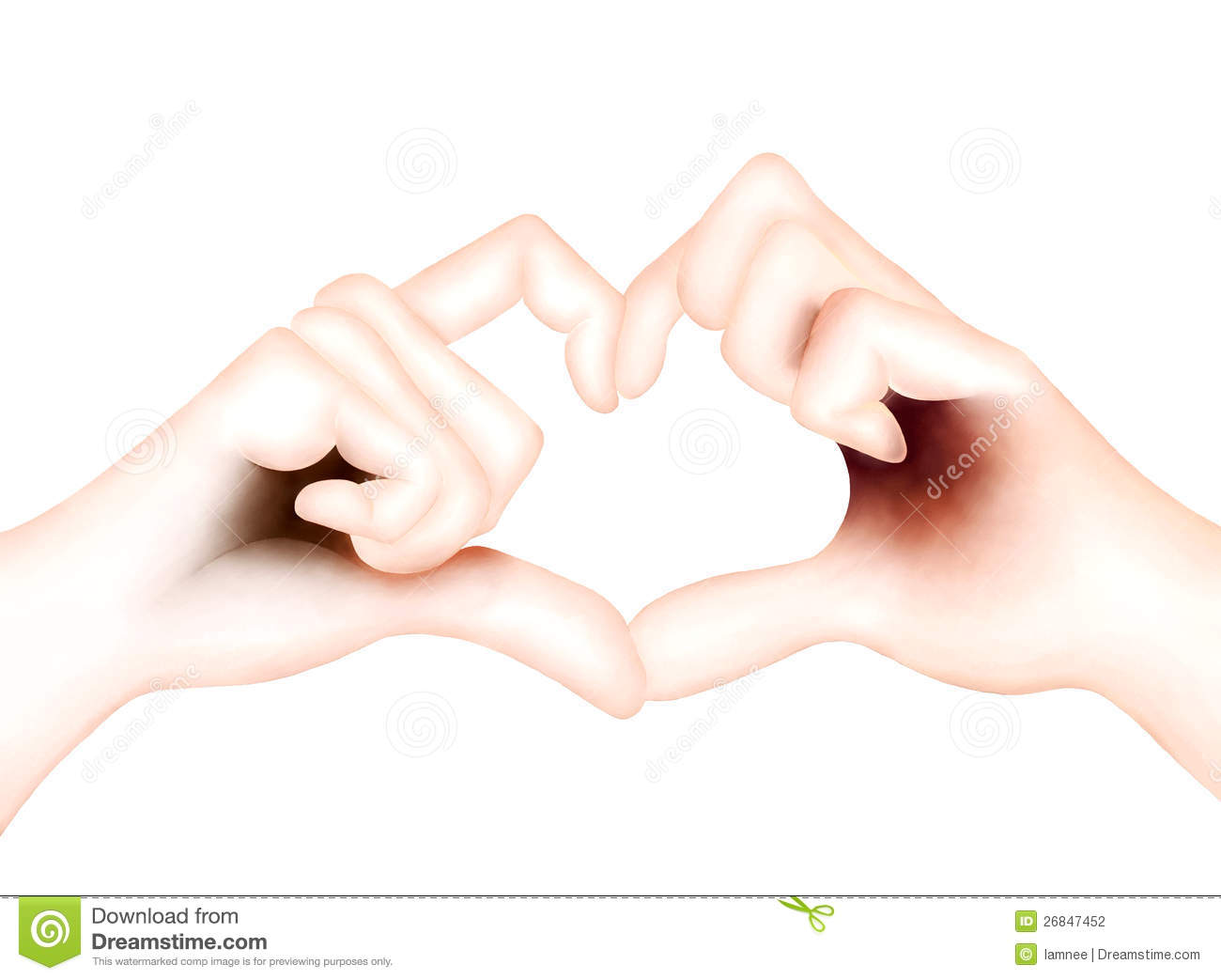 Lover Showing Heart Symbol With Hands Stock Illustration