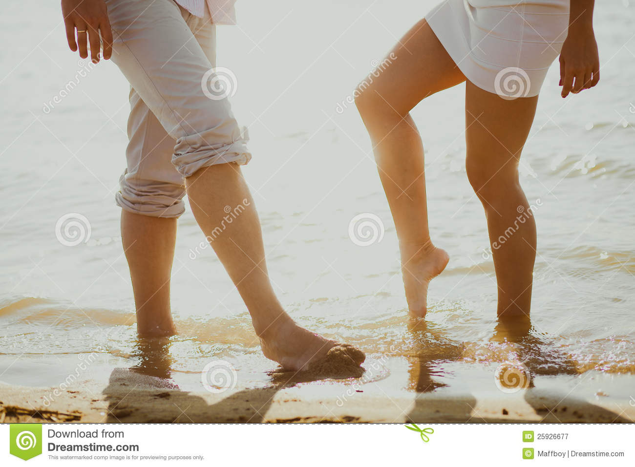 Download Lovers couple in sea stock image. Image of holiday, shore - 25926677