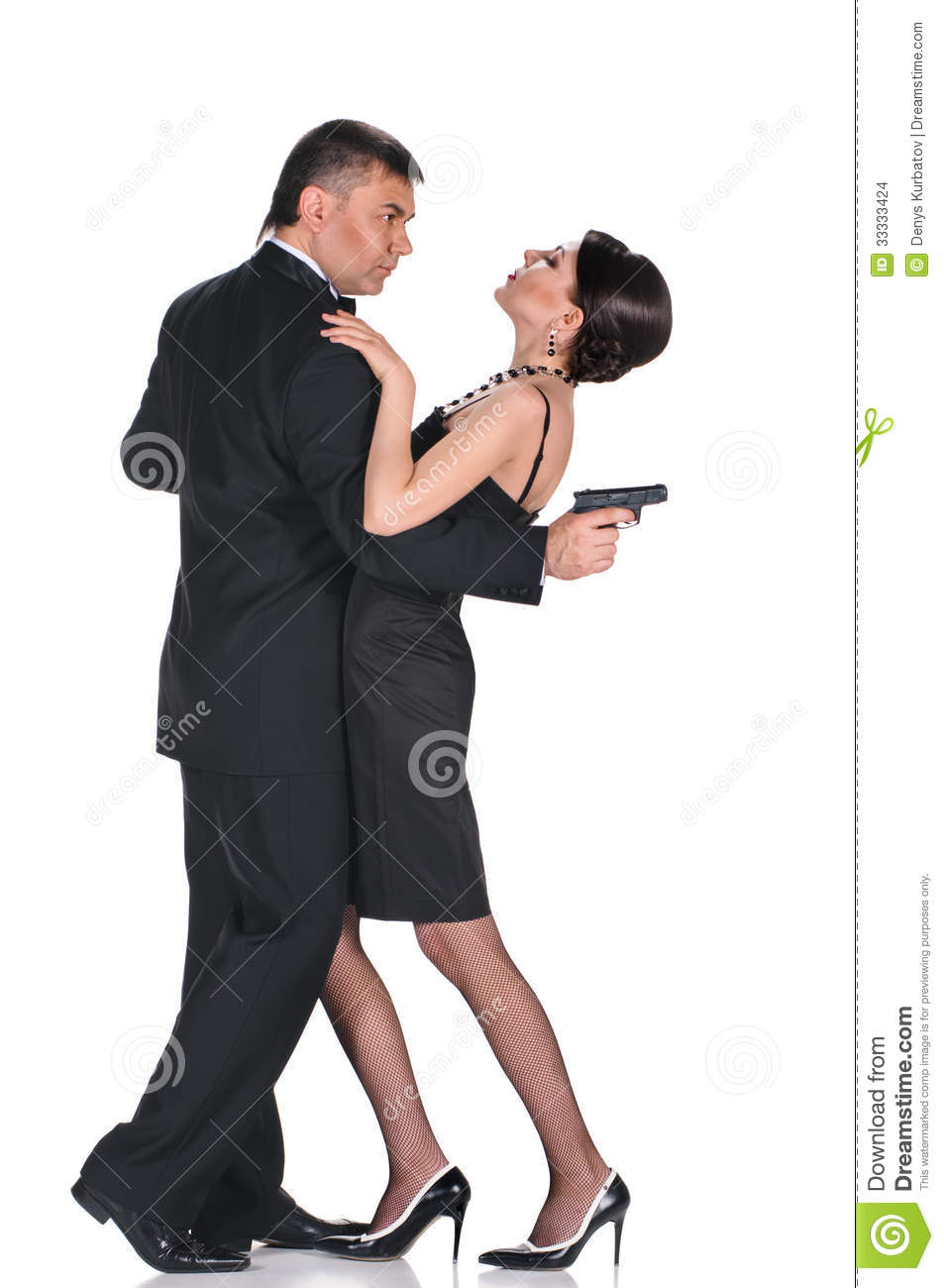 Lovers Gangsters Stock Photo Image Of Length Dress 33333424
