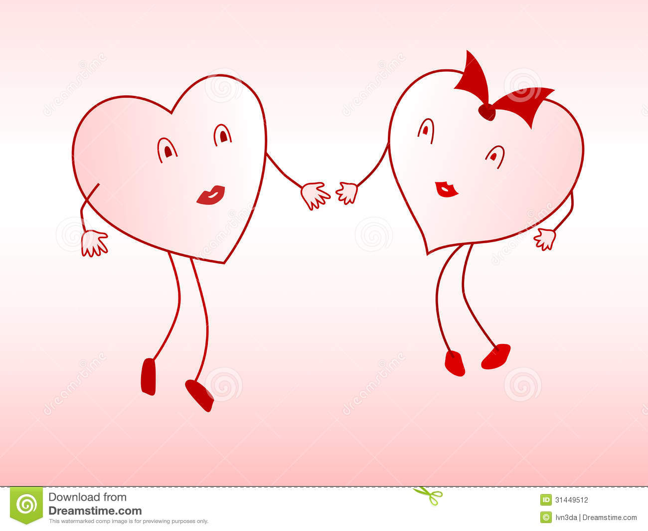 Lovers Of The Heart Stock Photography