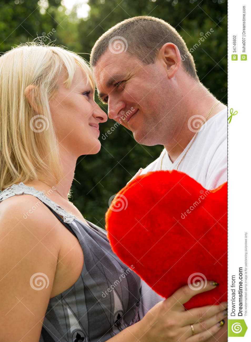 Lovers Husband And Wife Shows Tender Feelings