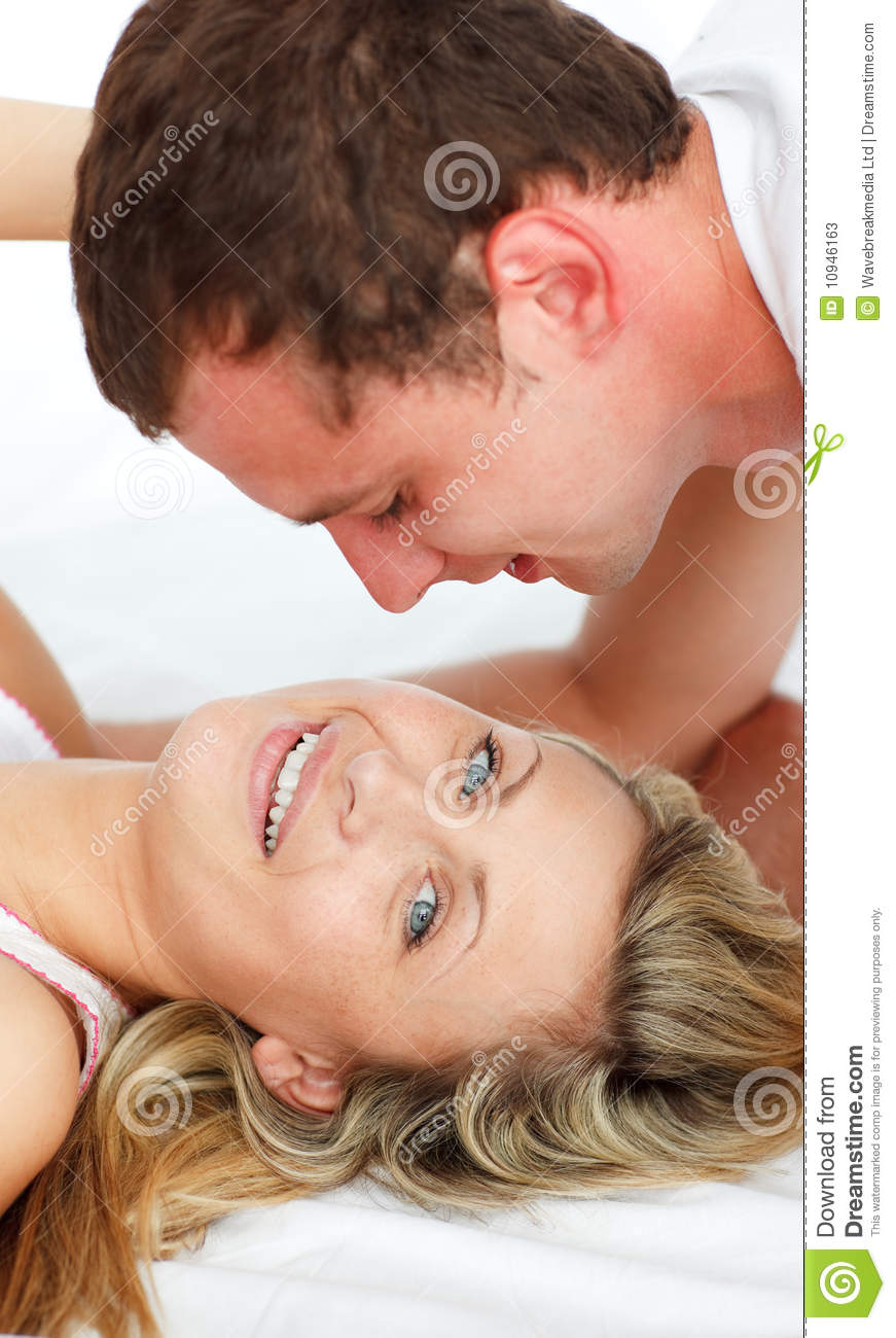 Kissing In Bed Lovers Kissing In Bed Stock Photos Image 10946163