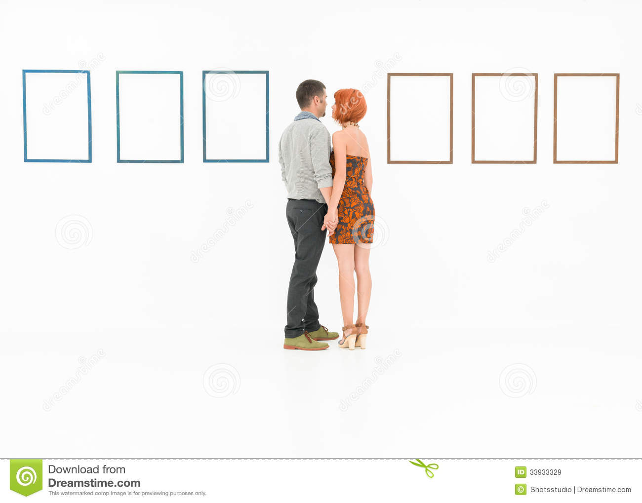 Lovers in a museum stock image. Image of decor, exhibition - 33933329
