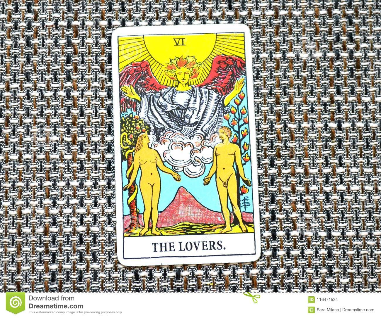 The Lovers Tarot Cards Love Choices Partnerships Affection Stock ...