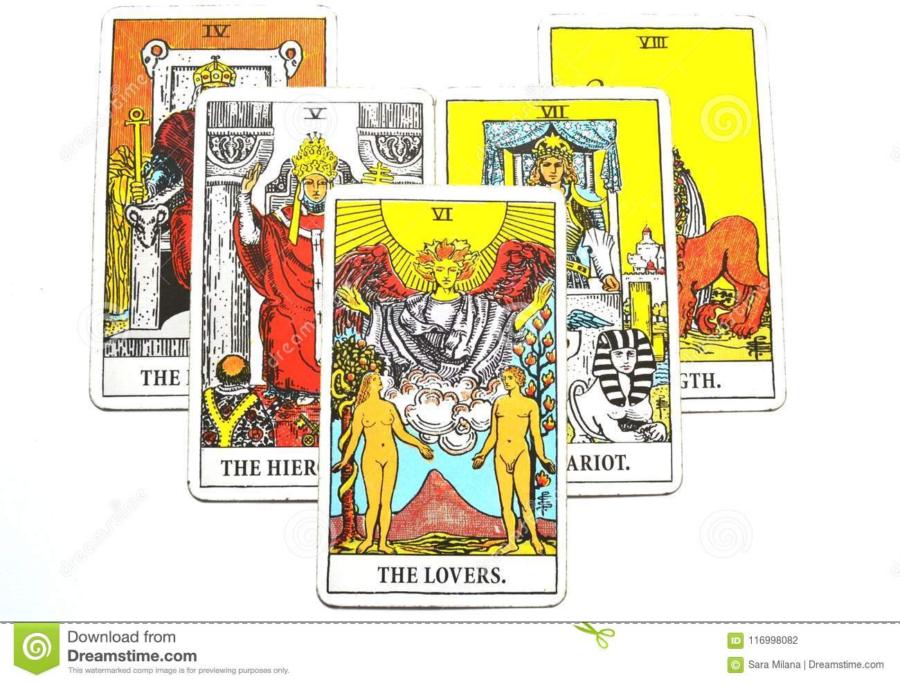 The Lovers Tarot Cards Love Choices Partnerships Affection Stock