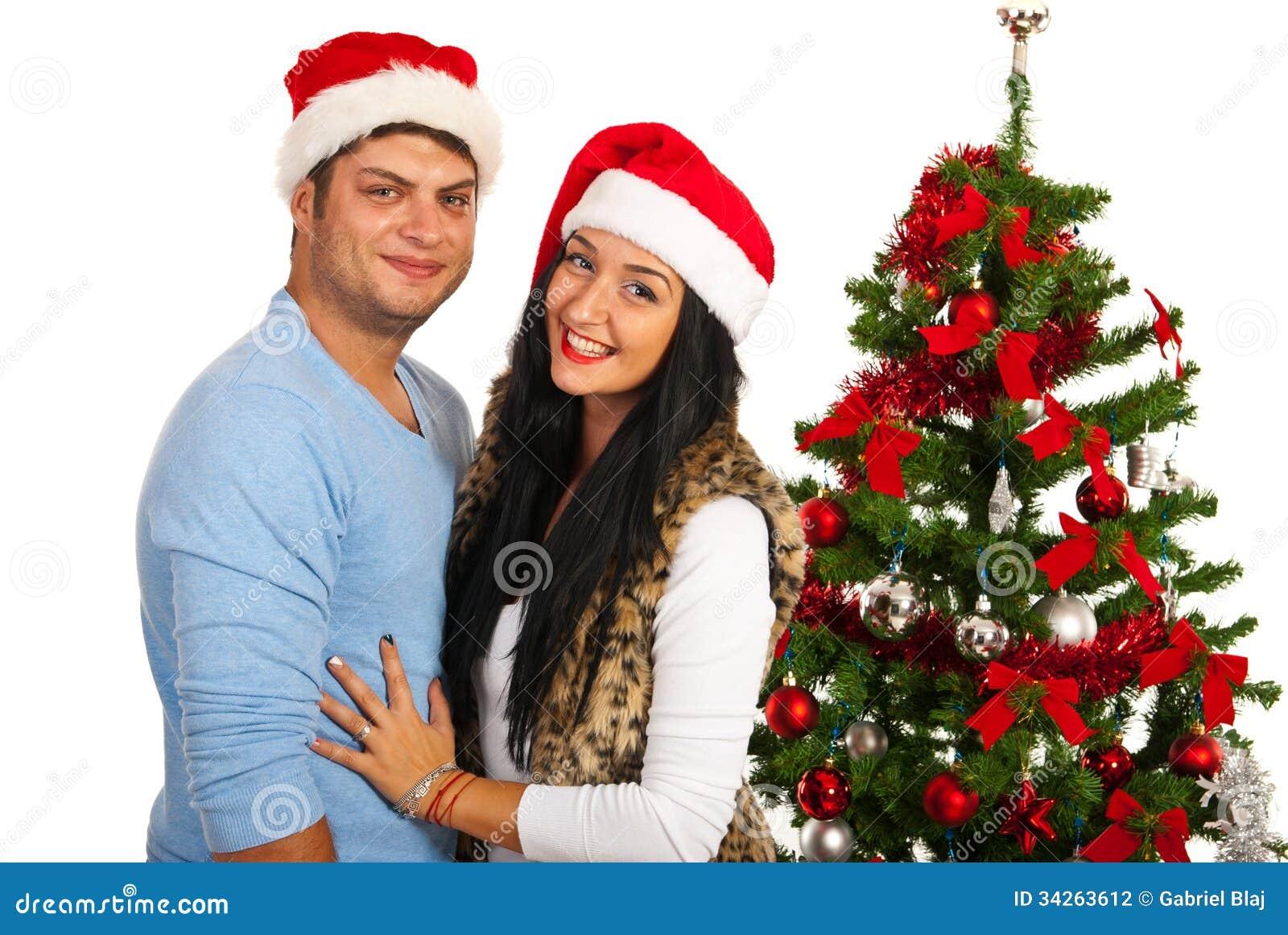Loving Christmas Couple Stock Photography - Image: 34263612