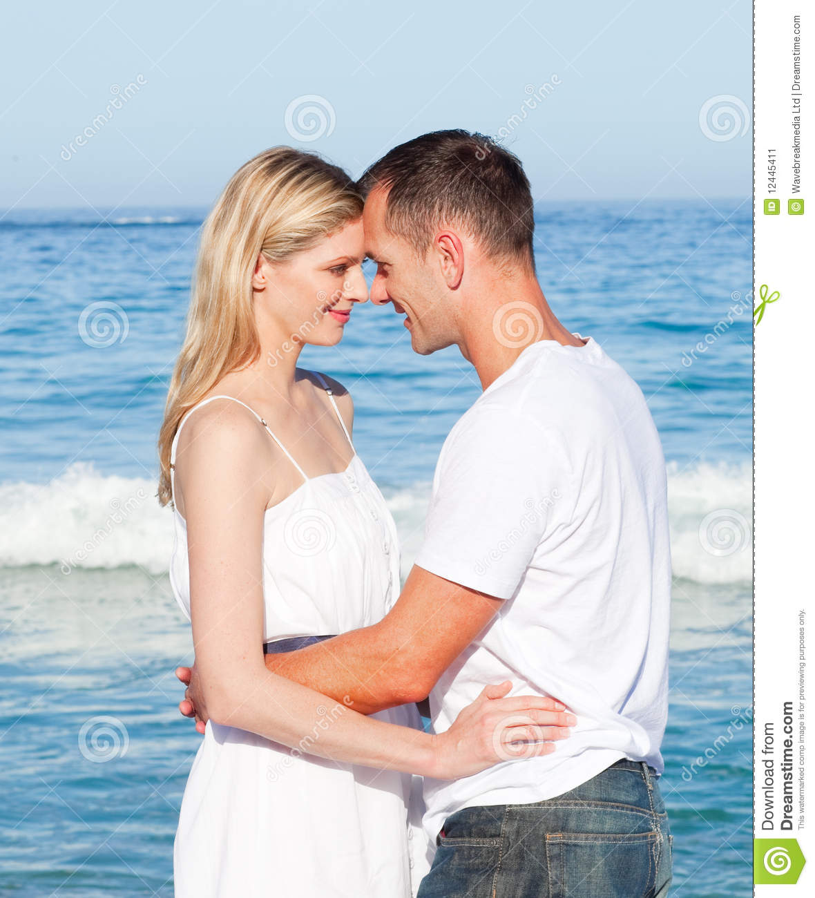 Couple At The Beach Stock Image Image Of Caucasian: Loving Couple Cuddling At The Beach Stock Image
