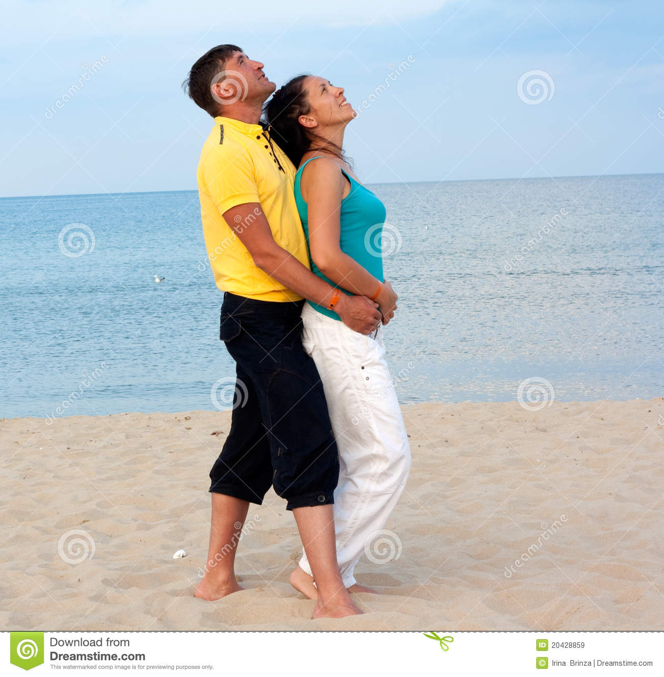 Couple At The Beach Stock Image Image Of Caucasian: Loving Couple Having Fun On The Beach Stock Image