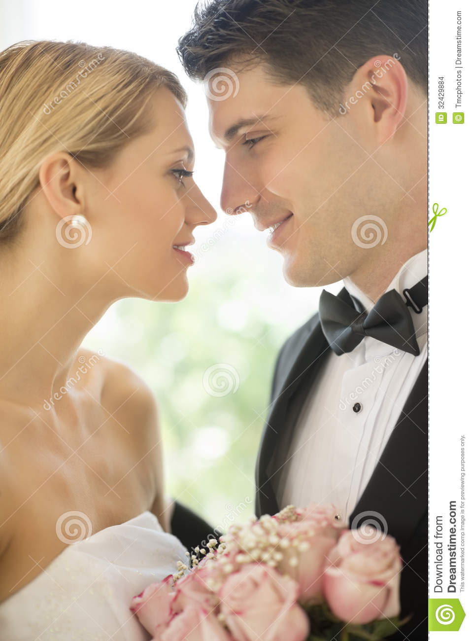 Loving Couple Looking At Each Other Stock Images
