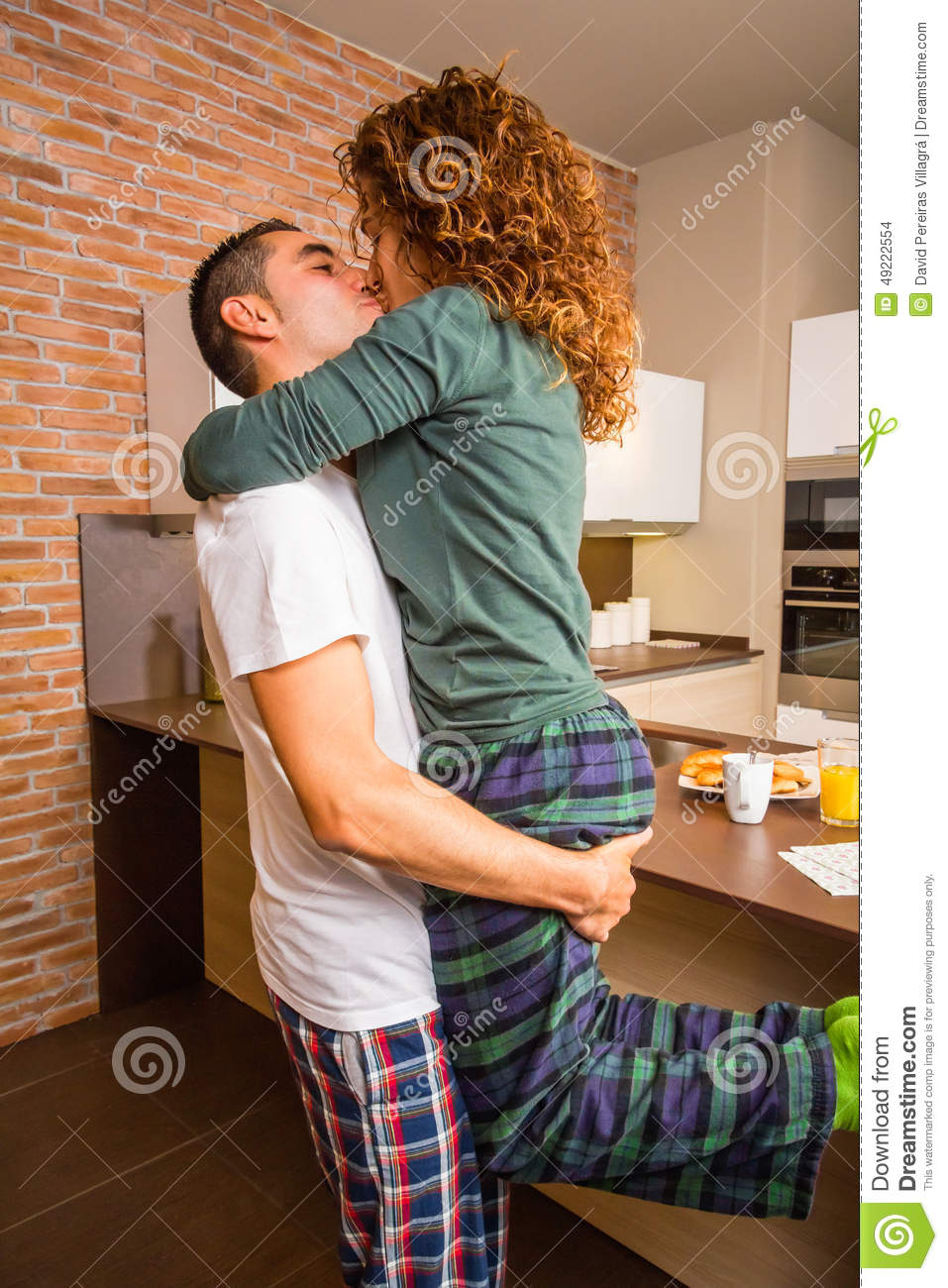 Young German Couple Making Love At Home