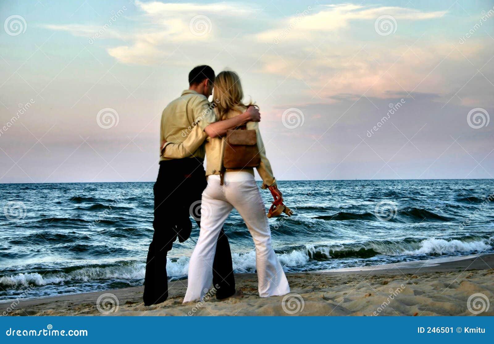Loving couple stroll